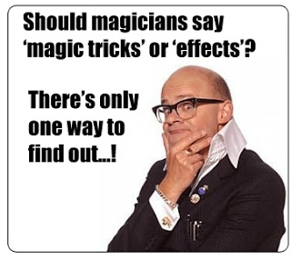 magic tricks called effects