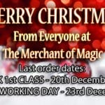 The Magic Shop Christmas and New Year 2013 - Opening Hours