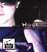 Hook needle though arm magic trick