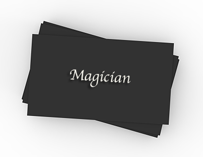Magicians Business Cards