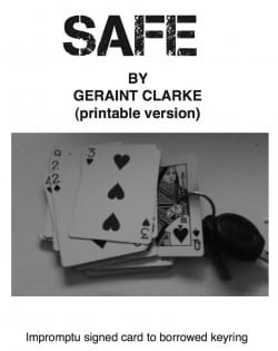 Free Magic tricks - Safe By Geraint Clarke