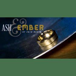 Ash and Ember Gold Beveled Design