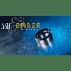Ash and Ember Silver Beveled Design