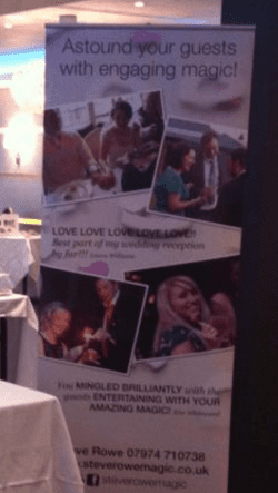 magicians pop up banner for wedding fayres