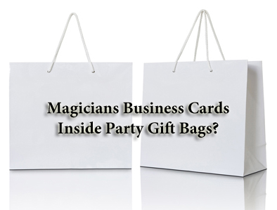 Magicians Business Cards in Bags
