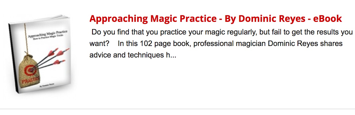 Approaching Magic Practice